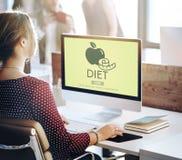 Dieetgezondheid die het Concept van de Voedingsmaatregel eten royalty-vrije stock foto