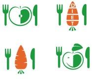 Dieetpictogrammen stock illustratie
