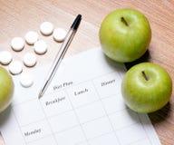 Dieetplan. Stock Fotografie