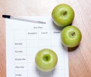 Dieetplan. Stock Afbeeldingen