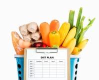 DIEETplan het gezonde wegen eten, op dieet zijn, het vermageringsdieet en verliesconce Stock Foto