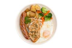 Dieetvoedsel, het Schone Eten, Ontbijt Royalty-vrije Stock Foto's