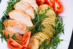 Dieetvoedsel, proteïnen, gezond low-calorie maaltijdconcept Gebakken CH royalty-vrije stock fotografie