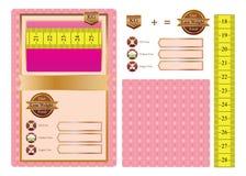Dieetvoedsel verpakkingssticker Stock Foto