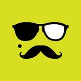 Dief of inbreker met oude stijlsnor, zonnebrilvector stock illustratie