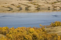 Diefenbaker Jezioro Saskatchewan obrazy royalty free