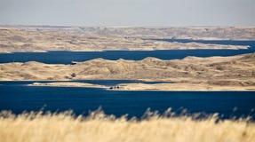 Diefenbaker Jezioro Saskatchewan zdjęcie stock