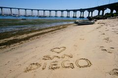 Diego ι αγάπη SAN στοκ εικόνα με δικαίωμα ελεύθερης χρήσης