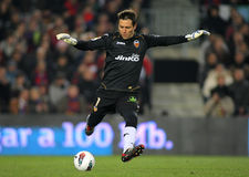 Diego Alves of Valencia CF Royalty Free Stock Photography