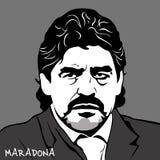 Diego Armando Maradona ilustración del vector