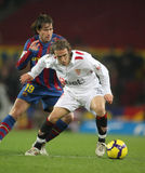 Diego Capel of Sevilla. During the 1/8 final King's Cup match between FC Barcelona and Sevilla FC at the Nou Camp Stadium on January 5, 2010 in Barcelona, Spain Stock Photography