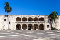Diego Columbus palace, Santo Domingo Royalty Free Stock Photo