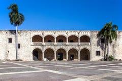 Diego Columbus slott, Santo Domingo Royaltyfri Foto