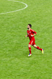 Diego Contento from Bayern Munich soccer club. Diego Contento from Bayern Munich on the field running Royalty Free Stock Photo