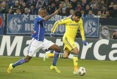 Diego Costa FC Schalke v FC Chelsea 8eme Final Champion League Royalty Free Stock Photos