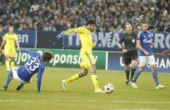 Diego Costa FC Schalke v FC Chelsea 8eme Final Champion League Stock Photo