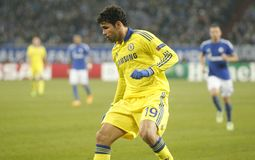 Diego Costa FC Schalke v FC Chelsea 8eme Final Champion League Royalty Free Stock Photography