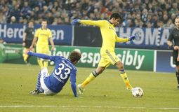 Diego Costa FC Schalke v FC Chelsea 8eme Final Champion League Stock Photos