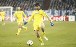 Diego Costa FC Schalke v FC Chelsea 8eme Final Champion League Royalty Free Stock Photo