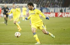 Diego Costa FC Schalke v FC Chelsea 8eme Final Champion League Stock Photography