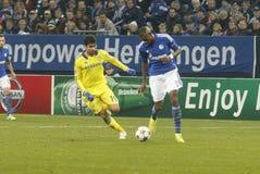 Diego Costa and Felipe Santana FC Schalke v FC Chelsea 8eme Final Champion League Royalty Free Stock Photo