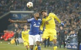 Diego Costa and Felipe Santana FC Schalke v FC Chelsea 8eme Final Champion League Stock Photography