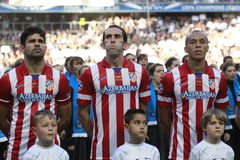 Diego Costa , Godin and Miranda Final Champion League 2014 Royalty Free Stock Photography