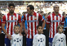Diego Costa ,Godin and Miranda Final Champion League 2014 Royalty Free Stock Image