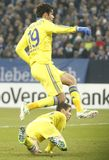 Diego Costa and Oscar FC Schalke v FC Chelsea 8eme Final Champion League Royalty Free Stock Photos