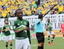 Diego Ferney Chará Zamor. Midfielder for the Portland Timbers at Providence Park 3-6-16 stock photography