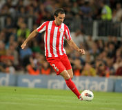 Diego Godin of Atletico de Madrid Royalty Free Stock Photos