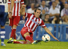 Diego Godin of Atletico de Madrid Royalty Free Stock Photography