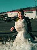 Diego il pupazzo di neve! Fotografia Stock