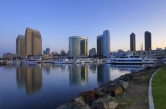 Diego-im Stadtzentrum gelegener Jachthafen stockfotos