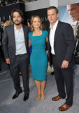 Diego Luna & Jodie Foster & Matt Damon Royalty Free Stock Photo