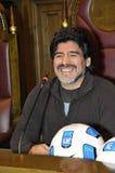 Diego Maradona Fotografia Stock Libera da Diritti