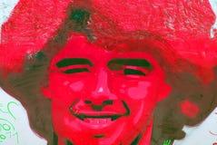 Diego maradona graffiti Zdjęcia Stock