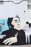 Diego Maradona Graffiti en Buenos Aires, la Argentina Fotos de archivo libres de regalías