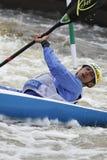 Diego Paolini im Wasser-Slalom-Weltcuprennen Stockfotos