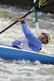 Diego Paolini in water slalom world cup race Stock Photos