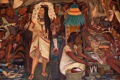 Diego Rivera mural, Palacio Nacional, Mexico city Royalty Free Stock Images