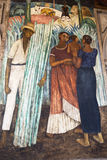 Diego Rivera mural, Public Education Ministry, Mexico city Royalty Free Stock Photo