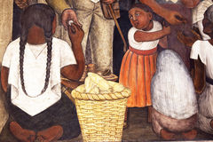Diego Rivera mural, Public Education Ministry, Mexico city Stock Image