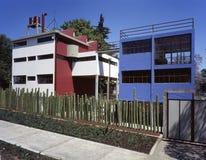 Diego Rivera och Frida Kahlo hus-studio museum Royaltyfri Bild