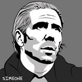 DIEGO SIMEONE vektor illustrationer
