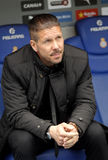 Diego Simeone chef av Atletico Madrid Royaltyfri Fotografi