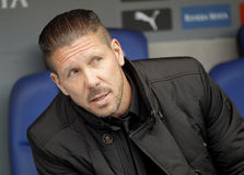 Diego Simeone manager of Atletico Madrid Royalty Free Stock Images