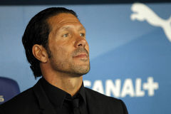 Diego Simeone manager of Atletico Madrid Stock Image