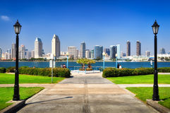 Diego-Stadtansicht vom Park Stockfotografie