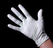 Dien medische handschoen in Royalty-vrije Stock Fotografie